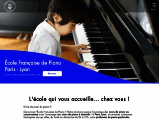 Détails : École Française de Piano, cours de piano à domicile