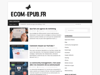 Ecom-epub, le site d'information sur le e-commerce