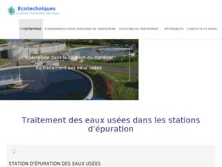 ECOTECHNIQUES est le leader du traitement des eaux en France