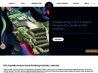Pourquoi intégrer l'École Hôtelière de Lausanne ?