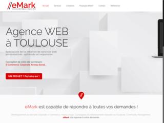 Détails : eMark, agence web située à Toulouse, spécialiste du référencement, la communication et le web-marketing
