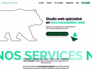 Détails : Émeraude Créative | Sites Internet écologiques