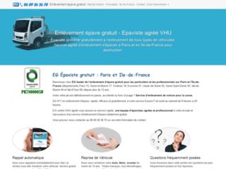 Enlèvement épave gratuit Paris Ile-de-France
