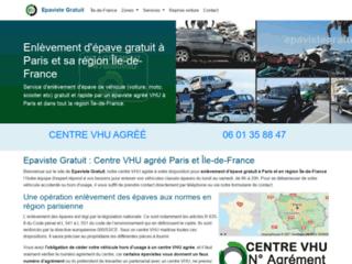 Enlèvement épave gratuit par épaviste VHU Paris et Île-de-France