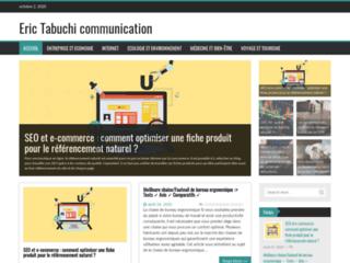 Détails : Blog d'informations et de communiqué de presse avec Eric Tabuchi