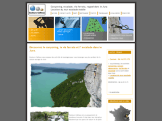 Détails : Couleurs Cailloux, canyon et escalade dans le Jura