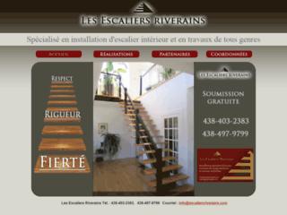 Détails : Les Escaliers Riverains - Contracteur d'escaliers de tout genre