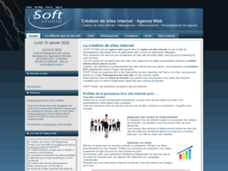 Détails : ESOFT Studio, création de site web