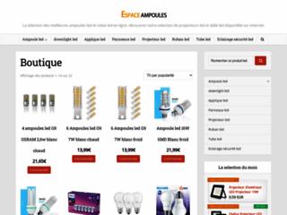 Détails : Un site pour l'achat d'une ampoule sur la toile
