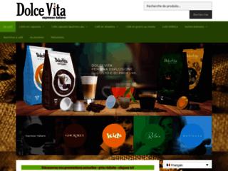 Caffès Dolce Vita – cafés en capsules, en dosettes et moulus