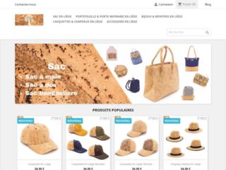 Boutique sac, portefeuille et bijoux en liège