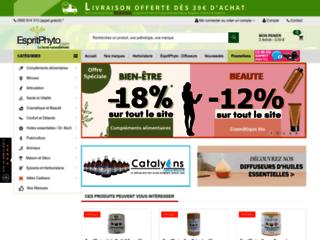 Détails : Espritphyto.com : des produits naturels à bas prix