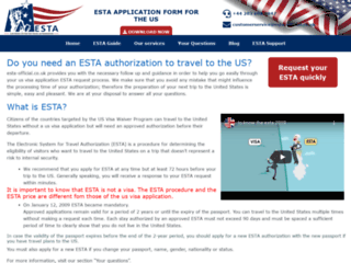 Détails : ESTA official Esta authorization application to the United