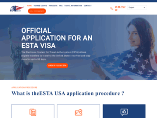 Formulaire de demande ESTA USA en Français
