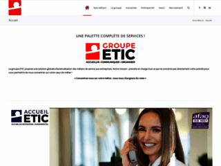 Détails : Etic-groupe : Hôtesses d'accueil qualifiées