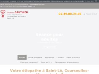 Sébastien Gauthier, étiopathe proche de Caen