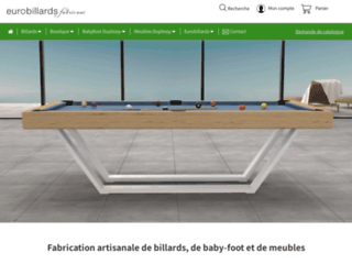 Détails : EUROBILLARDS | Fabricant de billards et babyfoots design transformables en table