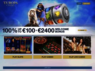 accueil du casino Europa
