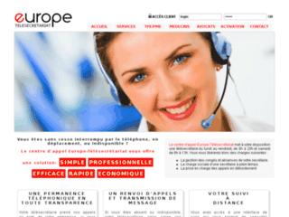 Europe-télésecrétariat: accueil et permanence téléphonique
