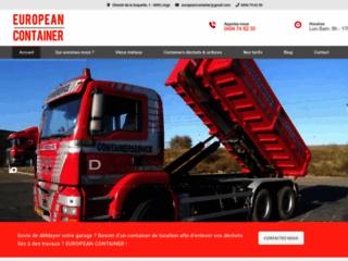 European Container: location de container à Liège, Flémalle, Herstal, Seraing, etc.