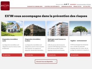 Détails : Exim, diagnostics immobiliers