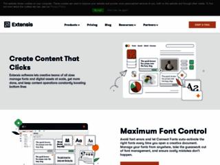 Détails : Extensis, votre créateur de caractères