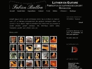 Détails : Fabien Ballon - Luthier en guitare