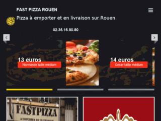 Fast pizza : pizza en livraison à Rouen