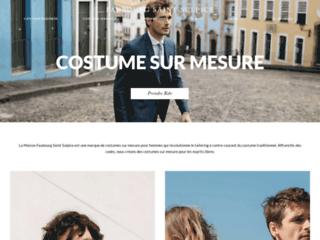 Détails : Costume de mariage taillé par Faubourg Saint-Sulpice Paris