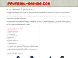 Le site fauteuil-gaming.com