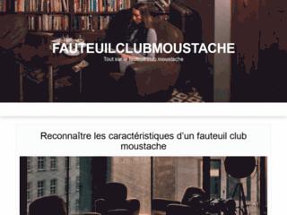 Tout savoir sur le fauteuil club moustache