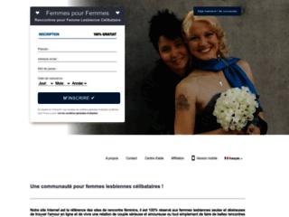 Détails : Femmespourfemmes : site de rencontres pour femme lesbienne célibataire