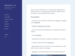 Détails : Fiduciaire C.I.A. - comptabilité et fiscalité à Genève