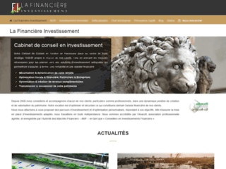 Détails : Financière investissement : aide optimisation fiscale et gestion de patrimoine