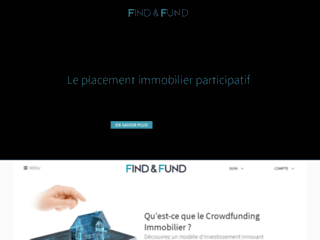 Détails : Find and Fund - Crowdfunding Immobilier