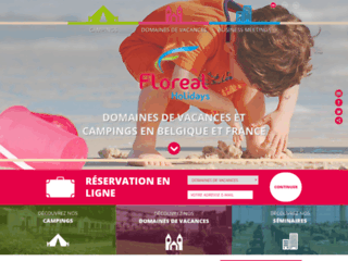 Floréal Holidays : séjours touristiques en domaines de vacances et campings partout en Belgique