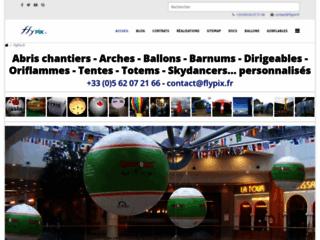 Détails : Ballon publicitaire avec logo personnalisé imprimé en couleur