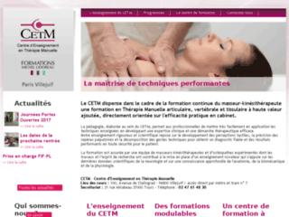 Formation en thérapie articulaire et vertébrale, CETM