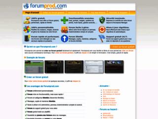 Détails : Créer un forum - Forumprod.com