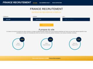 France recrutement : moteur de recherche d'emploi