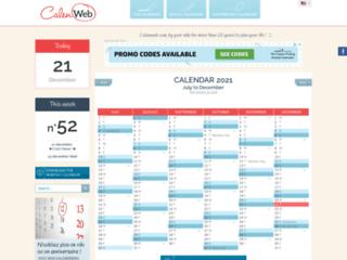 Détails : Calendriers, plannings, emploi du temps à télécharger et à imprimer gratuitement - Calenweb