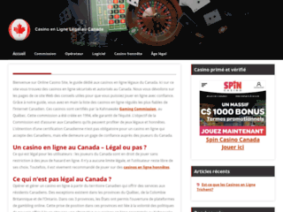 Site légal de casino au Canada