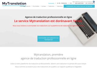 Détails : Mytranslation : Agence de traduction professionnelle en ligne