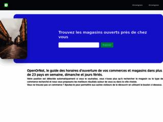 Open or Not - annuaire d'horaires ouvert sur le monde