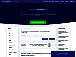 Détails : FranceEnvironnement - Plateforme spécialisée