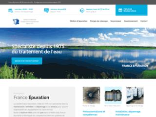 France Epuration, soins aux équipements du traitement de l'eau