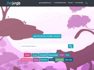 Moteur de home pages francophone Freejungle.