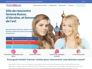 Site de rencontre French-union - Femmes Slaves et femmes ukrainiennes
