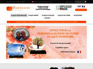 Détails : Funéraire en ligne – Plaques funéraires personnalisées