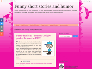 Website's thumnail : Funny short stories and humor